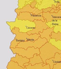 Alertas 26 de julio en Extremadura