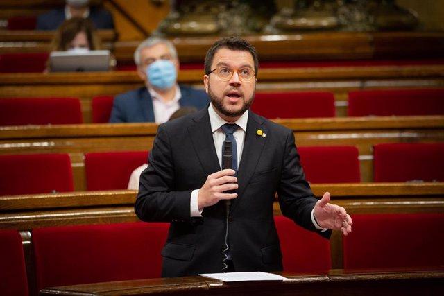 El vicepresidente de la Generalitat, Pere Aragonès.