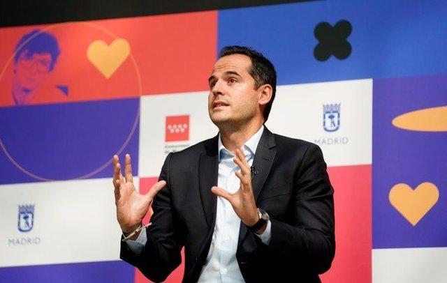 Foto recurso del vicepresidente de la Comunidad, Ignacio Aguado, en la presentación de 'Sondersland'