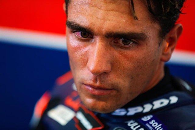 El piloto español de Moto3 Albert Arenas (KTM), en el GP Andalucía 2020 disputado en el Circuito de Jerez-Ángel Nieto