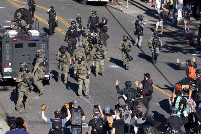 Protestas en Seattle contra el racismo y la brutalidad policial en EEUU