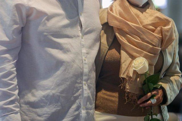 Foto de archivo de una boda.