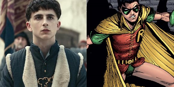 1. Timothee Chalamet es Robin en The Batman, en este increíble fan-art