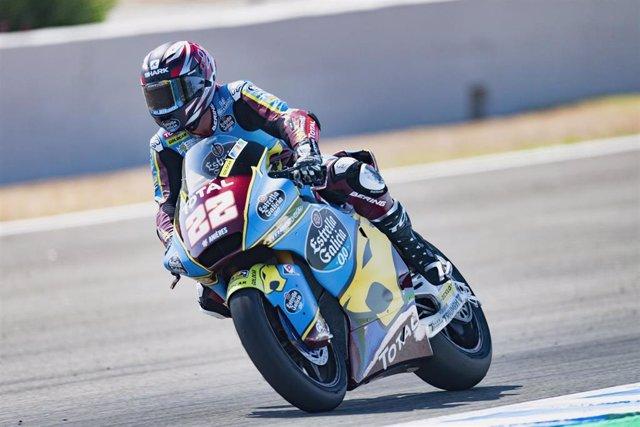 El piloto de Moto2 Sam Lowes (Estrella Galicia 0,0 Marc VDS) en el GP Andalucía 2020, en el Circuito de Jerez-Ángel Nieto