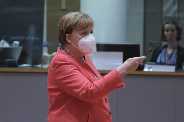 Angela Merkel en Bruselas, en la última cumbre del Consejo Europeo