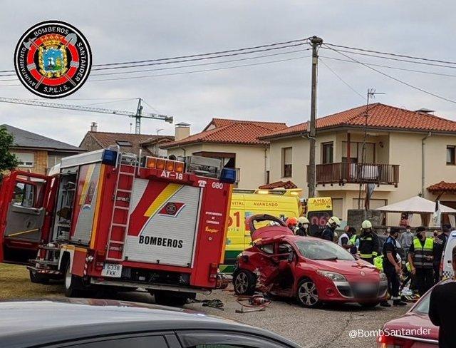 Accidente rotonda Corbán