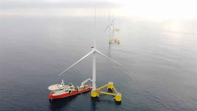 Proyecto eólico marino flotante de WindFloat Atlantic