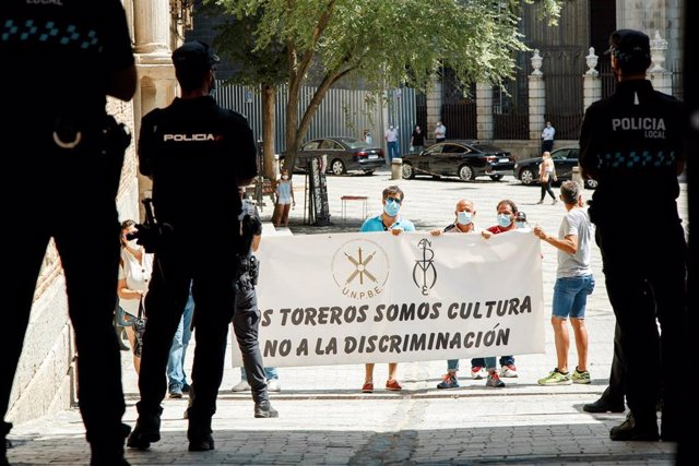 Manifestación contra Yolanda Díaz en Toledo