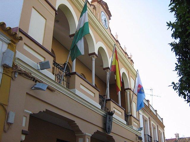 Fachada del Ayuntamiento de La Rinconada (Sevilla)