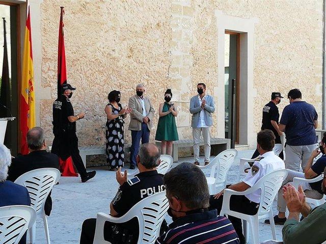 Acto de entrega de medallas a policías locales de Pollença