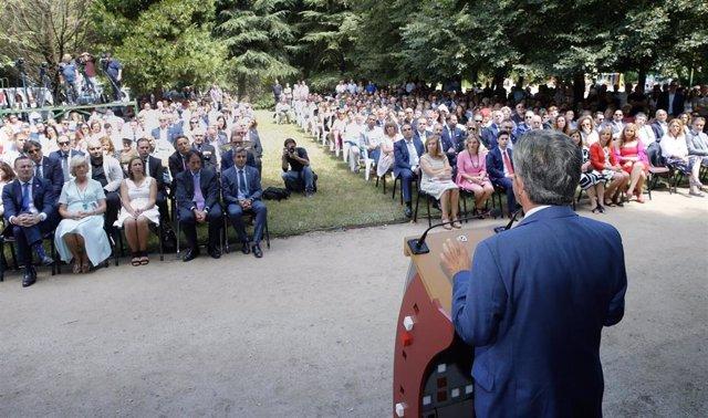 El presidente de Cantabria, Miguel Ángel Revilla, en el Día de las Instituciones de 2019