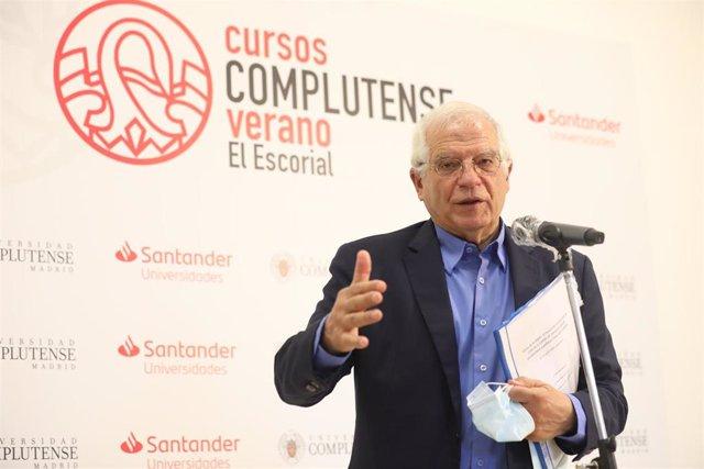 El Alto Representante de la UE para Asuntos Exteriores y Política de Seguridad, Josep Borrell, durante la sexta jornada de la XXXIII Edición de los Cursos de Verano en San Lorenzo de El Escorial, Madrid (España)