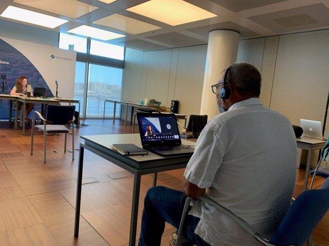 Primer seminario web de la aula virtual del Puerto de Barcelona