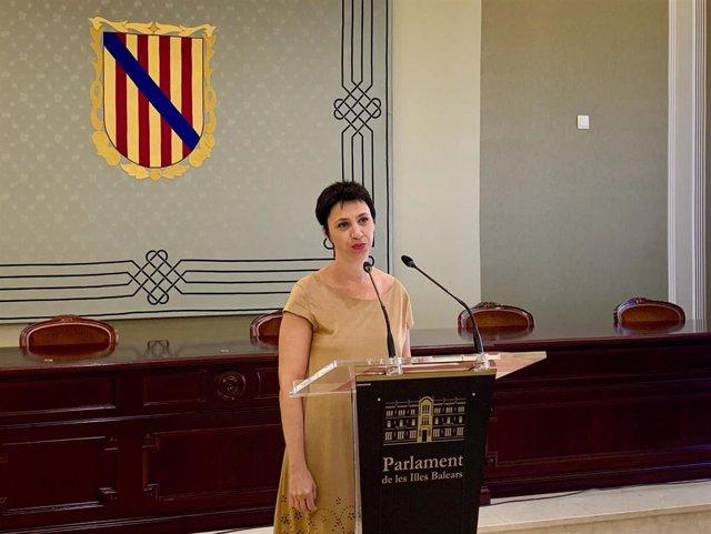 La portavoz socialista en el Parlament, Silvia Cano.
