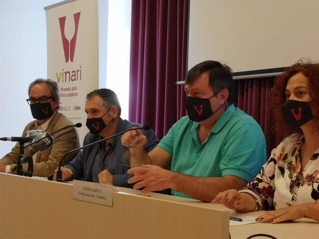 Roda de premsa de presentació de la VIII edició dels Premis Vinari