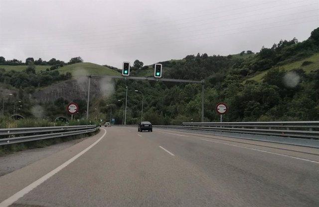 Imagen de una carretera asturiana.