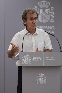 El director del Centro de Coordinación de Alertas y Emergencias Sanitarias (CCAES), Fernando Simón, ofrece una rueda de prensa para informar de la evolución de la COVID-19, en Madrid (España), a 16 de julio de 2020.