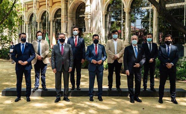 Reunión con los alcaldes de las ocho capitales andaluzas sobre covid-19