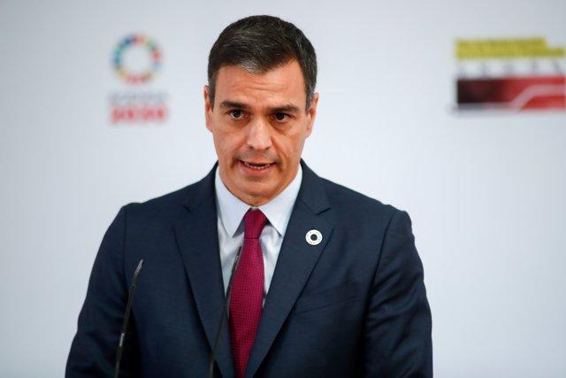 El presidente del Gobierno, Pedro Sánchez, preside la presentación del Plan de Modernización de la Formación Profesional, en Moncloa, Madrid, a 22 de julio de 2020