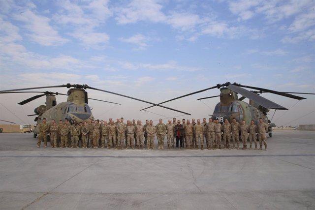 Irak.- Impactan tres proyectiles en un campamento militar al norte de Bagdad en