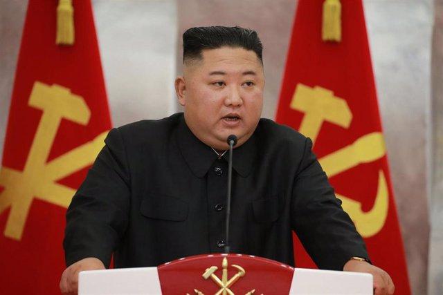 El líder de Corea del Norte, Kim Jong Un, durante el acto de conmemoración del 67º aniversario de la Guerra de Corea.