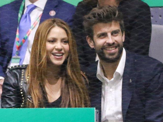 Shakira y Gerard Piqué, felices en la final de la Copa Davis entre España y Canadá