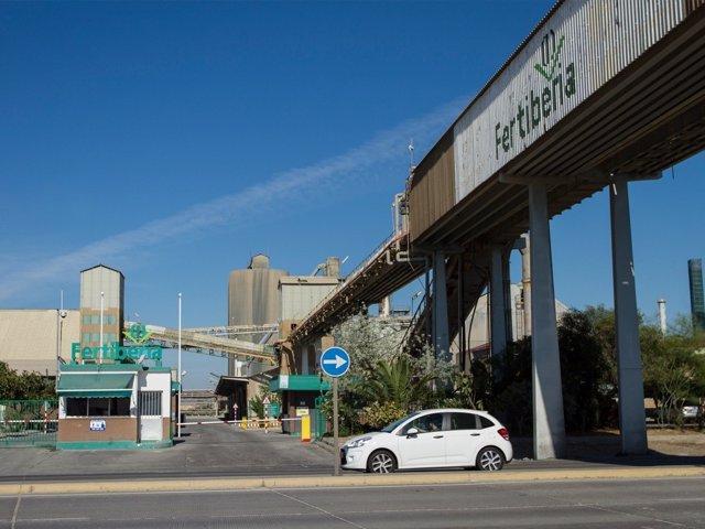 Imagen de la factoría de Fertiberia en Huelva