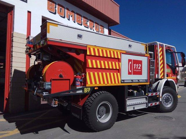 Camión de bomberos en una imagen de archivo