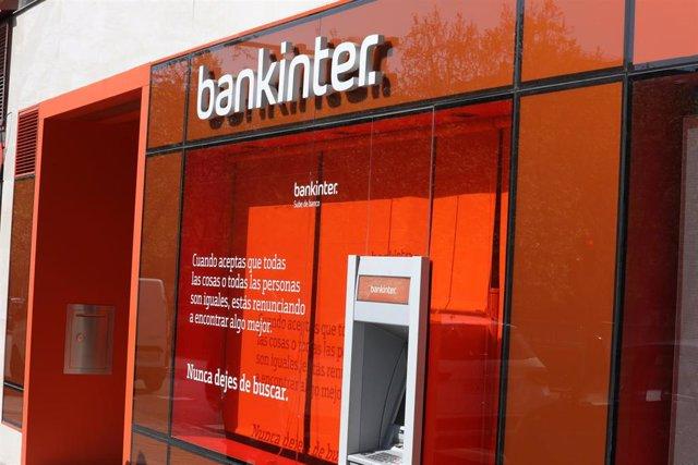 Una de las oficinas del banco Bankinter de Madrid.