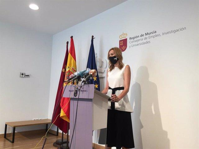 La directora general del SEF, Marisa López Aragón, durante la comparecencia para valorar la EPA del segundo trimestre