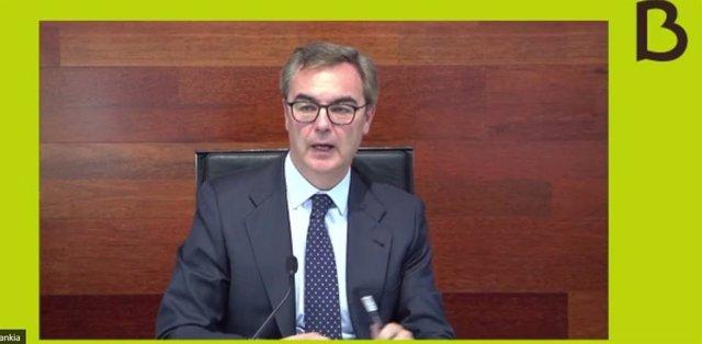 CEO de Bankia, José Sevilla, en la presentación de resultados del primer semestre de 2020.