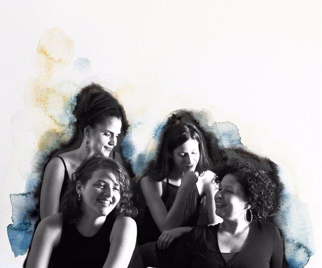 Dibujo promocional de Women Quartet y Carmen Camacho