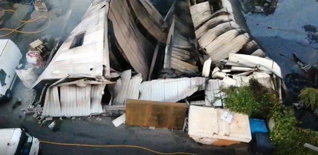 Nau d'una empresa de reciclatge cremada a Granollers