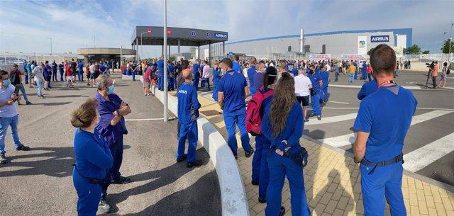 Concentración de Airbus en Illescas