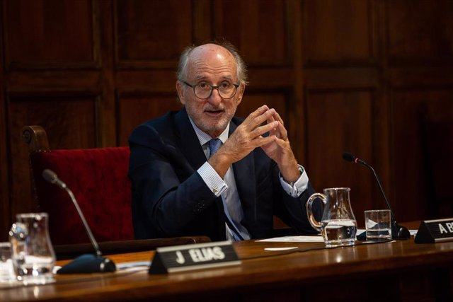 El presidente de Repsol, Antonio Brufau, durante su intervención en la presentación en Barcelona de la Cátedra Repsol de Transición Ecológica, EN barcelona (España), a 17 de septiembre de 2019.