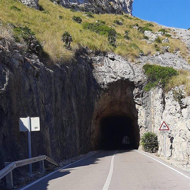 Túnel del puig Fumat, en Formentor