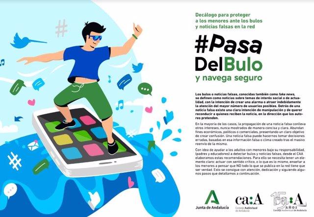 Campaña del Consejo Audiovisual de Andalucía contra los bulos