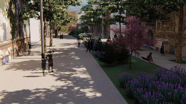 El proyecto del eje verde de la calle Nuredduna