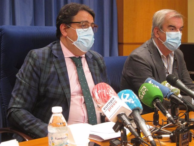 El consejero de Sanidad, José María Vergeles, en rueda de prensa en Badajoz