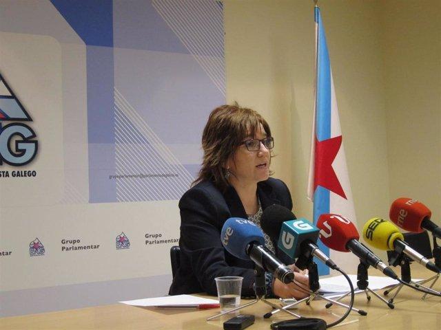 Montse Prado en rueda de prensa
