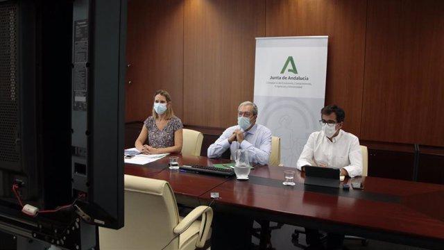 Imagen de este miércoles del consejero de Economía, Rogelio Velasco, que ha presidido una reunión del Consejo Rector de la Agencia IDEA.