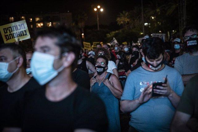 Imagen de archivo de una protesta contra el Gobierno israelí en Tel Aviv