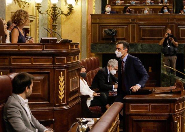 El president del Govern espanyol, Pedro Sánchez, al Congrés dels Diputats.