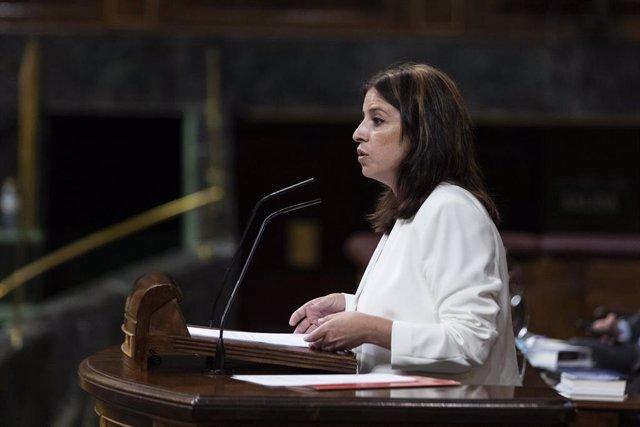La portavoz del Grupo Socialista en el Congreso de los Diputados, Adriana Lastra
