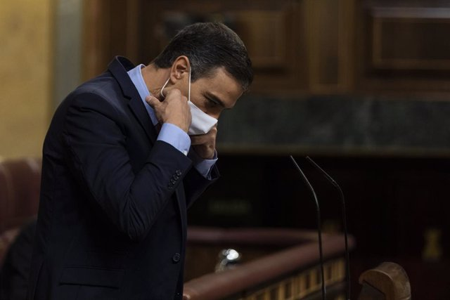 El president del Govern espanyol, Pedro Sánchez, al Congrés dels Diputats. Madrid (Espanya), 29 de juliol del 2020.