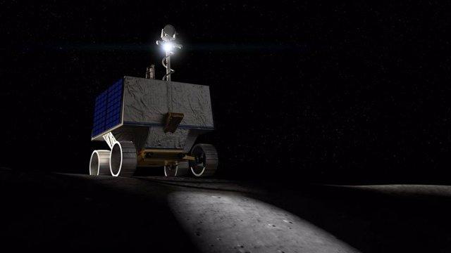 Ilustración del rover lunar VIPER de la NASA