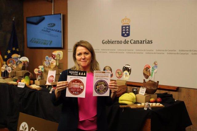 La consejera de Agricultura, Ganadería y Pesca del Gobierno de Canarias, Alicia Vanoostende, da a conocer el fallo