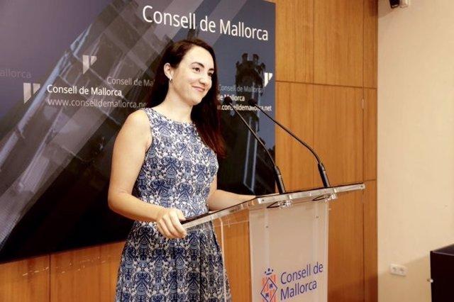 La portavoz de Cs en el Consell de Mallorca, Beatriz Camiña