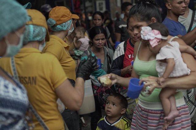 Migrantes venezolanos en la ciudad colombiana de Cúcuta