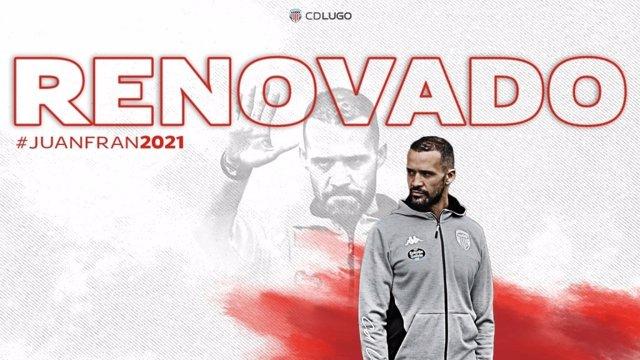 Fútbol.- Juanfran García continuará dirigiendo al Lugo la próxima temporada